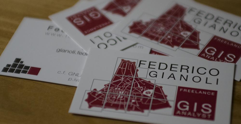 gis grafica biglietti visita Federico gianoli