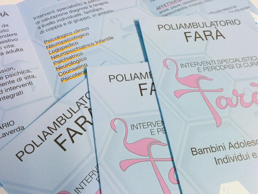 grafica brochure Farà padova logo