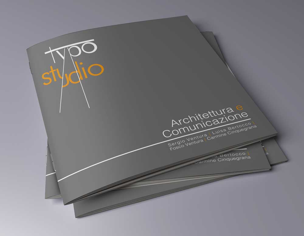 brochure grafica typo copertina